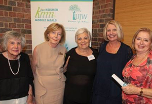Ujw Hon. Life President, Mina Sable and Lynne Raphaely With Elaine Gavshon, Sylvia Heyman and Phyllis Seligman, Recipients of Awards for Long and Dedicated Service to Ujw